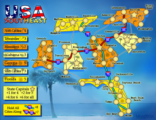 Conquer Club View topic FuNChewy VIII USA Southeast Map – Map Usa Game